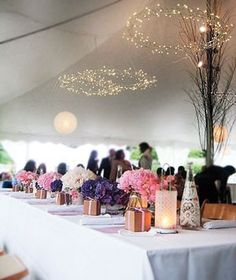 outdoor reception under a tent
