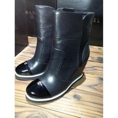 Chanel 2015 new style leather Boots CB078