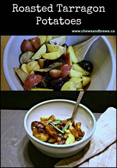 Super Simple Tarragon Potatoes ~ www.chewsandbrews.ca