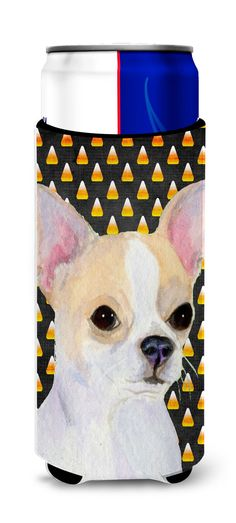 Chihuahua Candy Corn Halloween Portrait Ultra Beverage Insulators for slim cans SS4267MUK