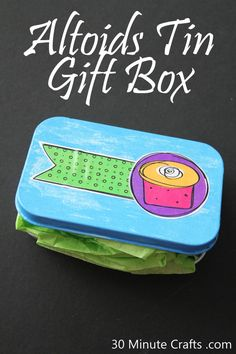 Altoids Tin Gift Box Tutorial - made using a free printable