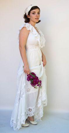 Spectacular Vintage us Wedding Dress Paloma Blanca Incredible Open Weave Lace Cotton Pin tuck Lace Destination Wedding Dress