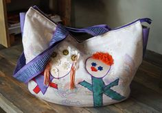 Bag for a Young Mother. The bag is made especially for the young, happy mother, who always carries a lot of items that child needs. Clothes, diapers, food, and a lot of toy...