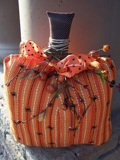 Cute pumpkin! I like this idea.