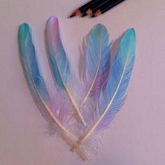Watercolor pencil love