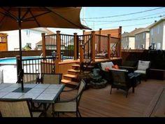 Concrete Patios, Concrete Patio Designs, Patio Steps, Outside Patio, Small Backyard Patio, Outdoor Pool, Patio Resurfacing Ideas, Patio Plus, Diy Terrasse