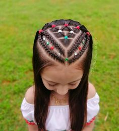 Easy Toddler Hairstyles, Kids Curly Hairstyles, Cute Little Girl Hairstyles, Baby Girl Hairstyles, Braids For Kids, Braids For Long Hair, Curly Hair Styles, Natural Hair Styles, Girl Hair Dos