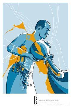 Sternzeichen Wassermann / Zodiac sign Aquarius Disney Characters, Fictional Characters, Poster, Illustration, Disney Princess, Art, Astrology, Stars, Abstract