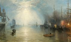 A detail from Turner's Keelmen Heaving in Coals by Night, 1835 [National Gallery, London 2012. On loan from the National Gallery, Washington, DC]