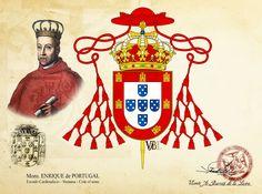 """Mons. Enrique I de Portugal, """"el Piadoso"""", """"el Casto"""" o """"el cardenal"""" - Coat of arms #vabldesign #design #ecclesiastical #heraldry #coatofarms #shield #cardinal #archbishopbraga #archbishopevora #archbishoplisbon #arzobispobraga #arzobispoevora #arzobispolisboa"""