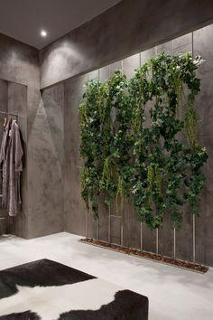 Wonderful Decor Stone in Bathroom Ideas : Amazing Plant Decor Stone In Bathroom Grey Accents White Marble Flooring