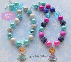 Elsa Chunky Necklace Anna chunky necklace Elsa Bubblegum Necklace Frozen chunky…