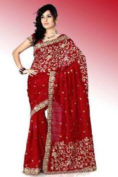 Maroon bhagalpuri silk saree with blouse