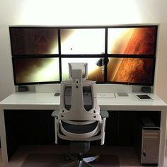 Nerd Room, Gamer Room, Pc Setup, Desk Setup, Trading Desk, Dream Desk, Space Battles, Custom Pc, Home Office Setup