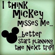 New Year, New Disney trip to plan. And I better do it fast, because the longer I wait, the more Mickey will miss me😂. Are you guys planning a a Disney trip anytime soon? Disney Fanatic, Disney Nerd, Disney Addict, Disney Memes, Disney Quotes, Disney Love, Disney Magic, Disney Parks, Walt Disney World