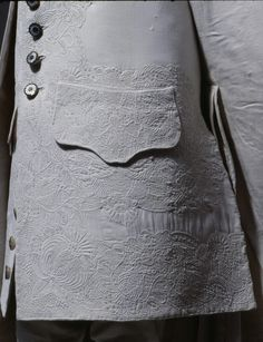Detail of boy's frockcoat, 1750, Germany, cotton, linen lining,  Nationalmuseum Nürnberg | Objektkatalog