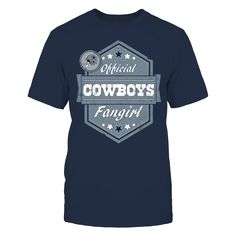 OFFICIALLY LICENSED EXCLUSIVE DESIGN  Show your love for the Dallas Cowboys with this fun Official Cowboys Fangirl design.  Makes a great gift for female fans of the Cowboys! #DallasCowboys
