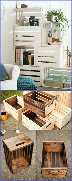 For all the reading lovers, it is a best thing to know that with the wooden pallet pieces they can make wooden racks for placing the books as well. You can make wooden boxes in which you can store different kind of items like storing clothes and socks etc.