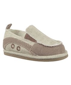 Take a look at this Taupe Distressed Canvas Slip-On Sneaker on zulily today!