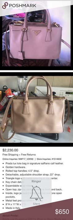 Prada handbag It's in good condition. Does have a couple stains inside and out but NOTHING noticeable. It's a really great bag, no low ball offers as this purse does run for $2300 !! Prada Bags Crossbody Bags