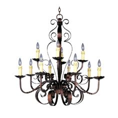 Chandelier in Oil Rubbed Bronze Finish | 20620OI | Destination Lighting