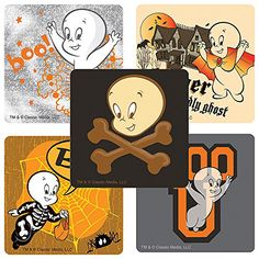 Casper the Friendly Ghost Stickers - Prizes and Giveaways - 75 per Pack @ niftywarehouse.com #NiftyWarehouse #Halloween #Scary #Fun #Ideas