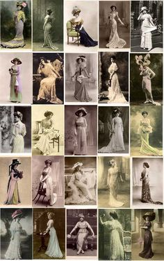 Vintage 1909-1918 Fashion Beautiess Image Collection Image Contents
