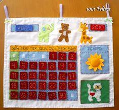 1001 Feltros: Calendário em feltro e tecido