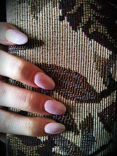 Pale pink claw nails for prom night
