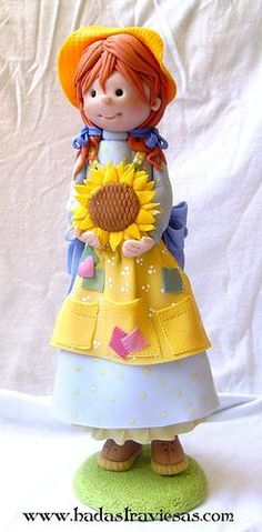 *SORRY, no information as to product used ~ campesina by hadastraviesas, via Flickr Looks like polymer clay to me-Jen.: