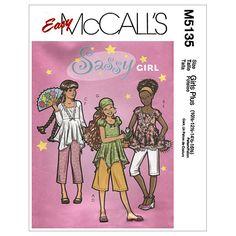 Girls'/Girls' Plus Tops, Gaucho, Pants and Head Scarf-PLS (10 1/2 - 12 1/2 - 14 1/2 - 16 1/2) Patternnull