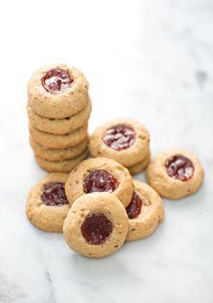 Pecan Jam Thumbprint cookies. Fun to gift and make with kids.