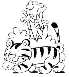 Cartoon Tigers Coloring Pages Cartoon Tiger, Coloring Book Pages, Zoo Animals, Print Pictures, Needlework, Minnie Mouse, Disney Characters, Fictional Characters, Applique
