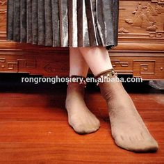 Fancy design girls trouser socks silver cute ankle socks with beads