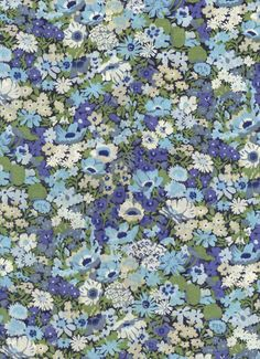 Liberty of London fabric tana lawn Thorpe in blue by MissElany, $4.20