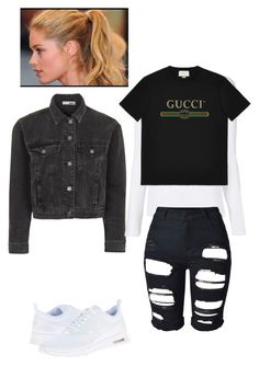 """""""Untitled #276"""" by yasminabuwi on Polyvore featuring Topshop, T By Alexander Wang, Gucci and NIKE"""