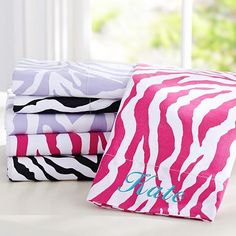 Funky Zebra Organic Sheet Set #pbteen