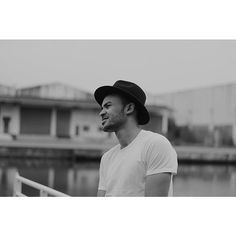 simple white t-shirt & hat  biblak_what's photo on Instagram
