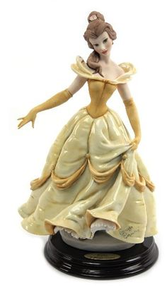 Disney Porcelain Figurines | GIUSEPPE ARMANI DISNEY BELLE PORCELAIN FIGURINE : Lot 2121