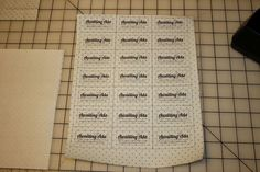 Fat Quarter Friday: DIY Fabric Tags | Awaiting Ada  How to print directly onto fabric using freezer paper. Genius!