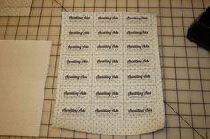 Fat Quarter Friday: DIY Fabric Tags | Awaiting Ada  How to print directly onto fabric using freezer paper. Genius!
