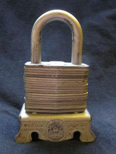 1940's Master Lock counter display.
