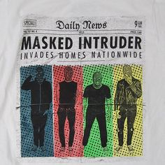 Masked Intruder / 'News' white tee / Shirts For A Cure $14