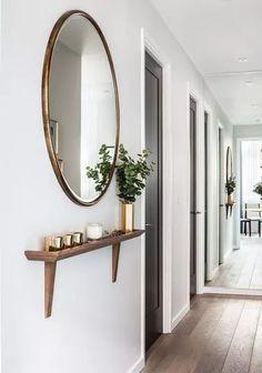 Narrow Hallway Decorating, Narrow Entryway, Hallway Ideas Entrance Narrow, Entryway Ideas, Modern Hallway, Entrance Ideas, Entrance Halls, Modern Staircase, House Entrance