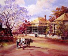 Milko's Little Helpers by D'Arcy Doyle Australian Painting, Australian Artists, Beautiful Artwork, Beautiful Pictures, Australian Bush, Aussies, Painters, Childhood Memories, Fun Stuff