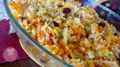 arroz de festa, arroz festivo, arroz com uva passas, arroz com tudo que tem direito, arroz de natal, arroz com damasco,