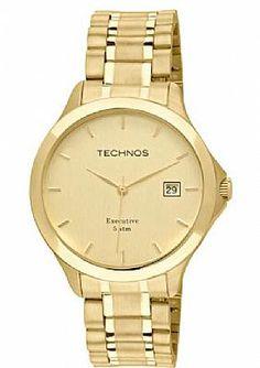 600c44a94f7 Relógio Masculino Technos Classic Steel 1S13BW 4X