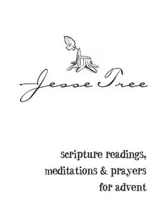 Jesse Tree Guide - Really nice guide book with scriptures, readings, questions and prayers.