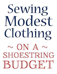 Sewing Modest Clothing on a Shoestring Budget: Part 3 Buying Patterns