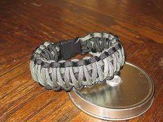 550 Paracord King Cobra Survival Bracelet W Handcuff Key Emergency Kit